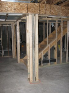 Finishing a Basement; Framed in