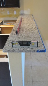 Granite Bar Top with Overhang
