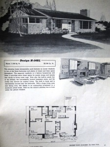 Stock House Plan from 1950's