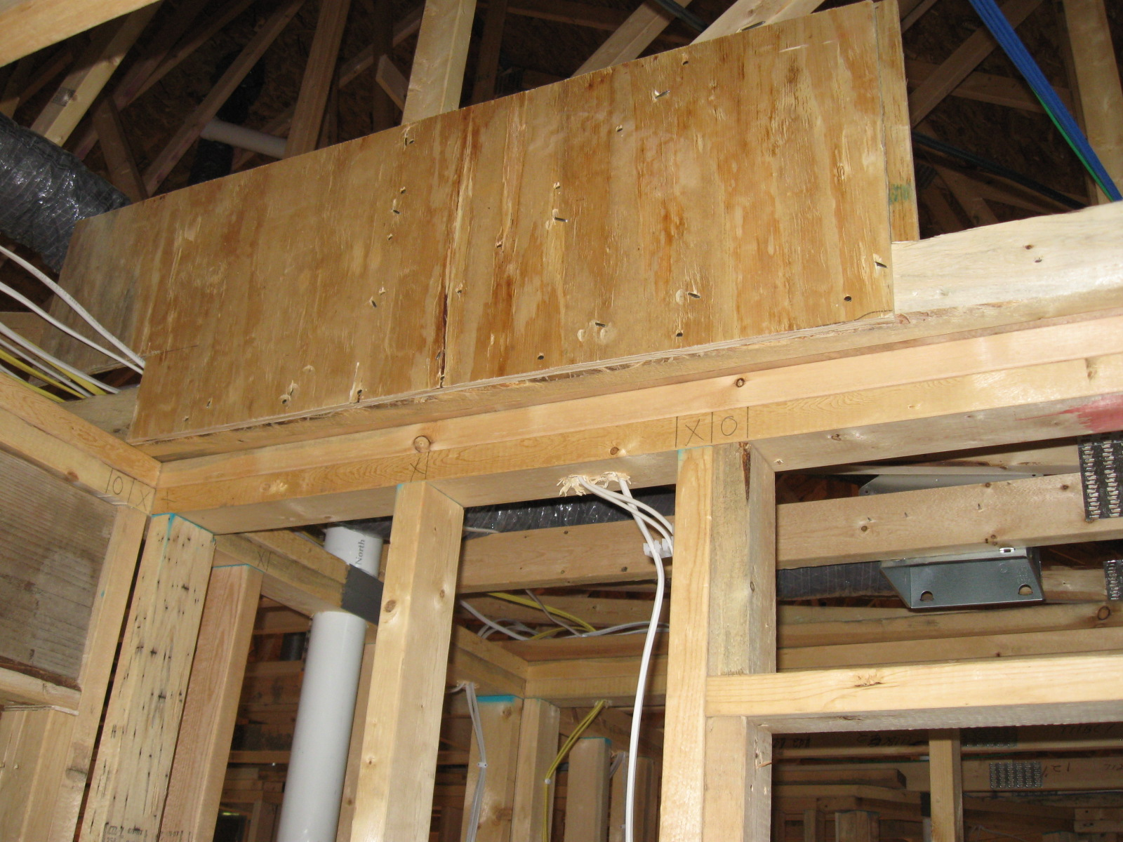 Cost to add a new owner built bathroom armchair builder blog - Truss Repaired Using Plywood Gussets