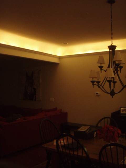 coved ceiling lighting. Dining Room With Cove Lighting Coved Ceiling