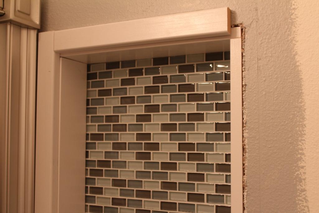Glass Tile Art Niche Installation - Armchair Builder :: Blog ...