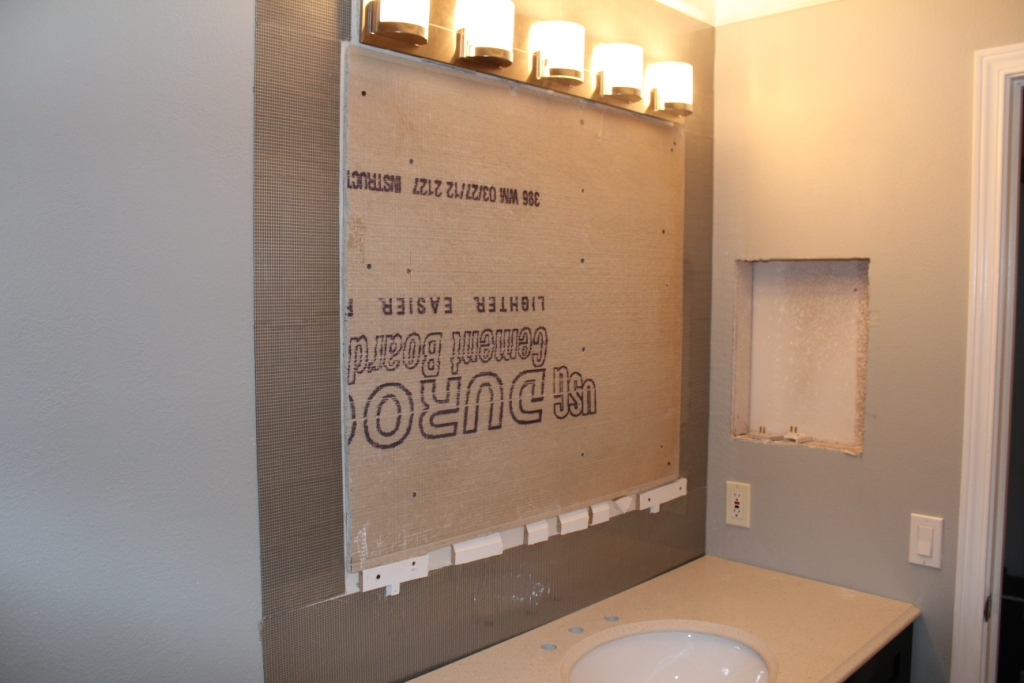 DIY Mirror Frame with Glass Mosaic Tile Armchair Builder Blog