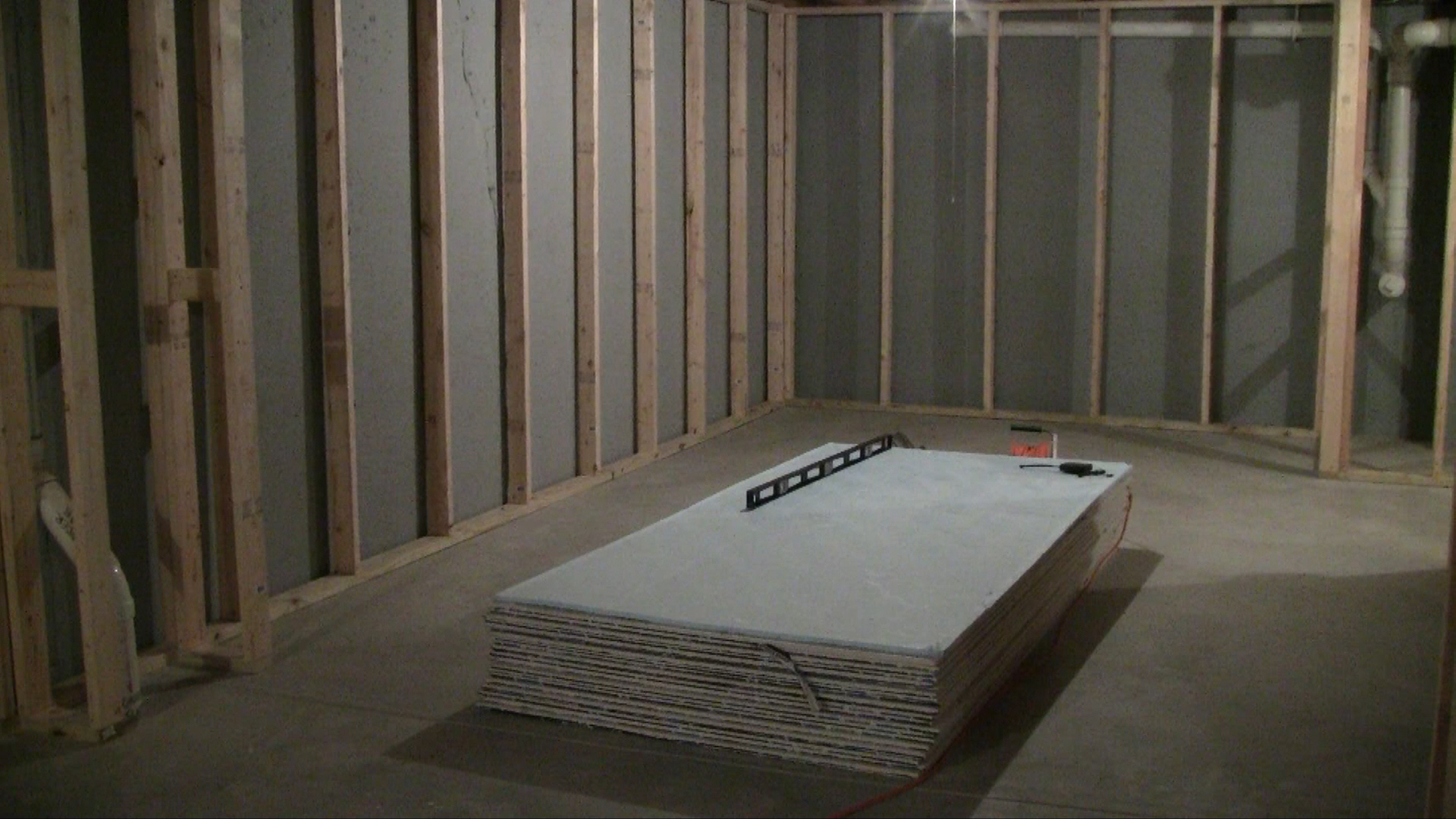 Cost To Build A Room In Basement Part - 22: Basement Drywall