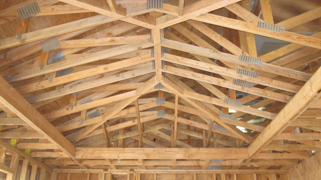 Vaulted roofs cathedral roof for Cathedral ceiling trusses