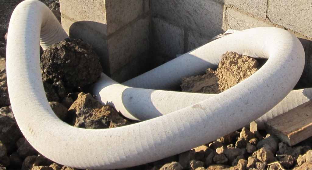 Filter Sock on Drain Tile Pipe