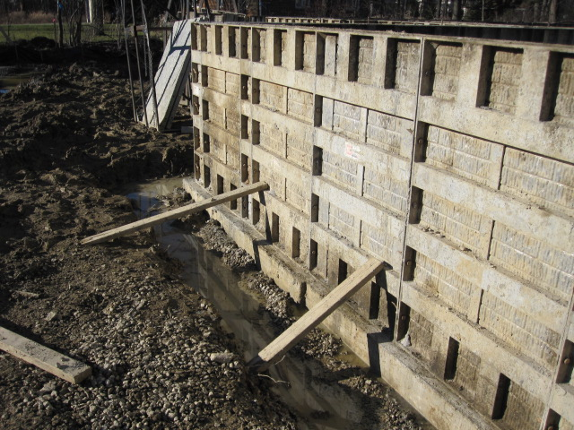 House foundation preparation for your new home armchair for Basement wall forms