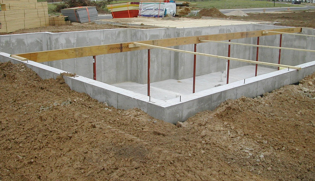 How to build a home step 31 set basement beams for What is the best foundation for a house