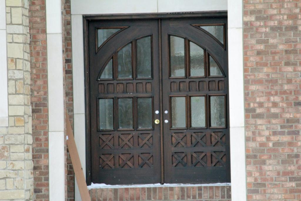 Elaborate Wood Entry Door