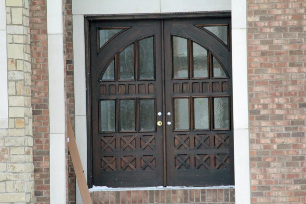 Elaborate Wood Entry Door