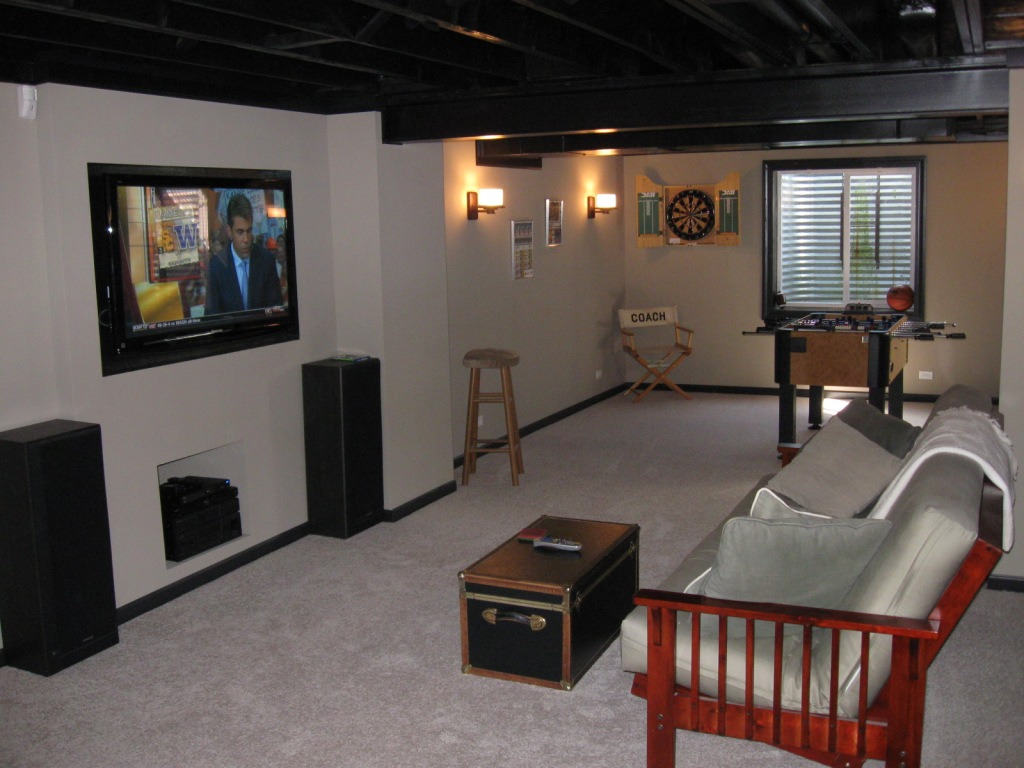 Affordable basement finish for new and existing homes for Affordable basement flooring